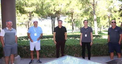 Alman turizmciler Antalya'da golf sahalarını gezdi