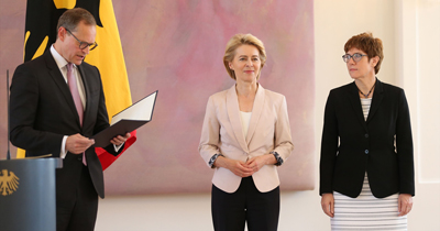 Annegret Kramp Karrenbauer Almanya Savunma Bakanı