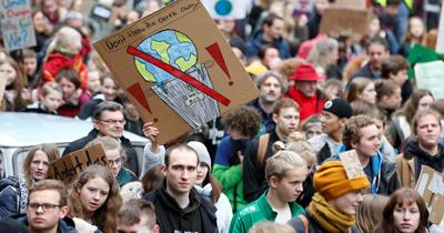 Almanya'da iklim politikaları protestosu