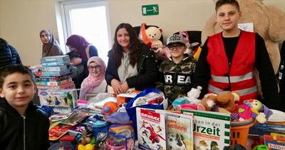 Almanya'daki Türk çocuklarından anlamlı etkinlik