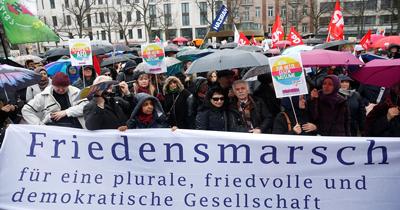 Berlin'de ırkçılığa karşı gösteri