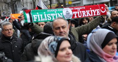 Berlin'de ABD'nin Kudüs karari protesto edildi