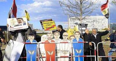 Mısır Cumhurbaşkanı Sisi'ye Berlin'de protesto