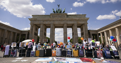 Turizmciler Berlin'de sokaklara indi