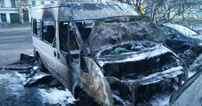 DİTİB'e ait bir araç yandı