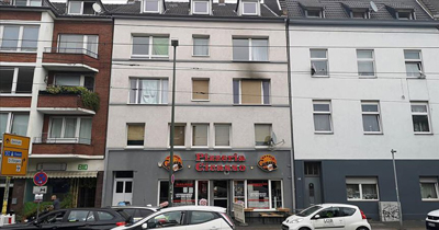 Düsseldorf'ta göçmenlerin yaşadığı binada yangın