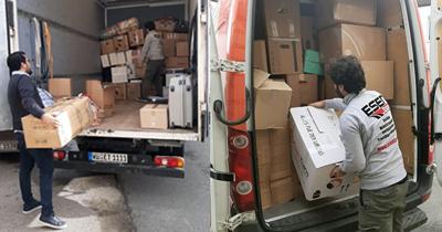 Depremzedelere Almanya'dan malzeme yardımı