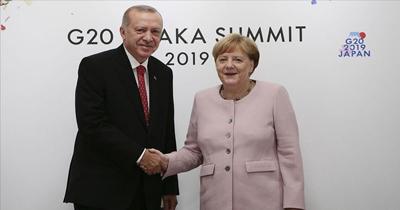 Erdoğan G20 çerçevesinde Merkel'i kabul etti