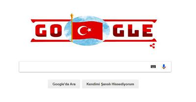 google Cumhuriyet Bayrami'ni kutladi