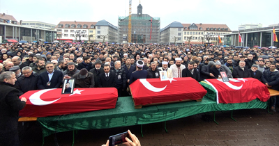 Irkçı terör kurbanları için cenaze töreni düzenlendi