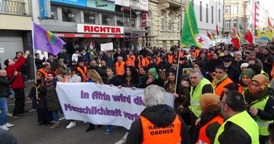 Köln'de PKK yürüyüşü durduruldu