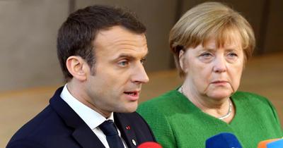 Merkel ile Macron Berlin'de görüştüler