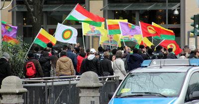 Köln'de PKK yandaşları kamu televizyonunu işgale kalkıştı