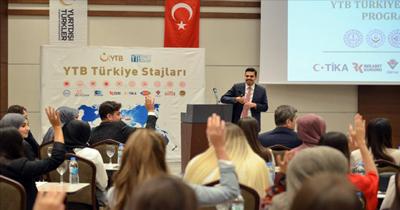 YTB Türkiye Stajları sertifika töreni yapıldı